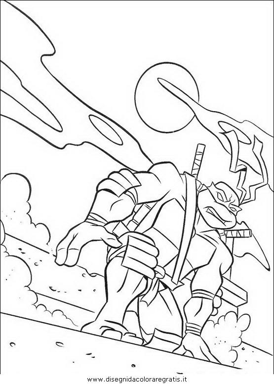 Disegno tartarughe ninja personaggio cartone animato