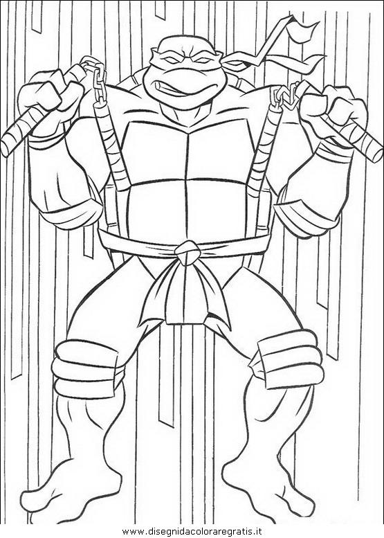 Disegno Tartarughe Ninja 47 Personaggio Cartone Animato Da Colorare