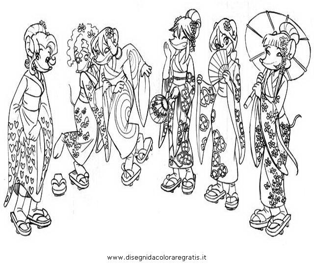 Disegno tea sister personaggio cartone animato da colorare