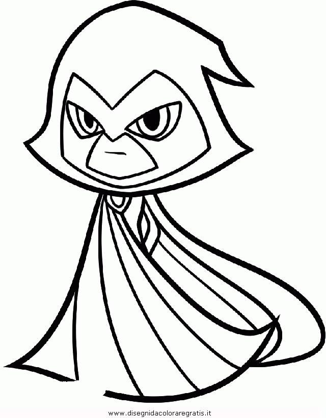 Disegno Raven Teen Titans Go Personaggio Cartone Animato Da Colorare