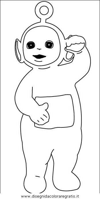 Disegno teletubbies personaggio cartone animato da colorare
