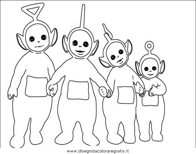 Disegni Da Colorare Di Cartoni Animati: Disegno Teletubbies29: Personaggio Cartone Animato Da Colorare