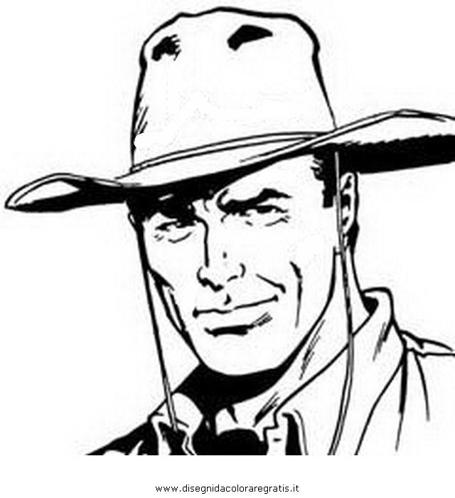 Disegno tex willer personaggio cartone animato da colorare