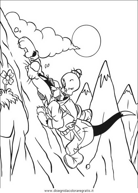 Disegno titti silvestro personaggio cartone animato da
