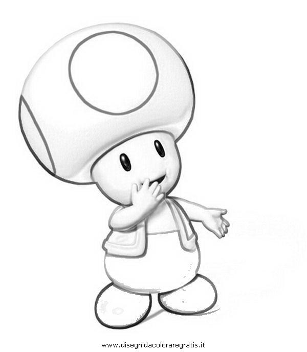 Disegno toad personaggio cartone animato da colorare