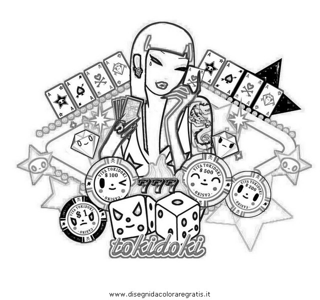 Tokidoki characters coloring pages