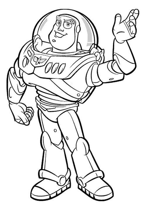 Disegno toystory personaggio cartone animato da colorare