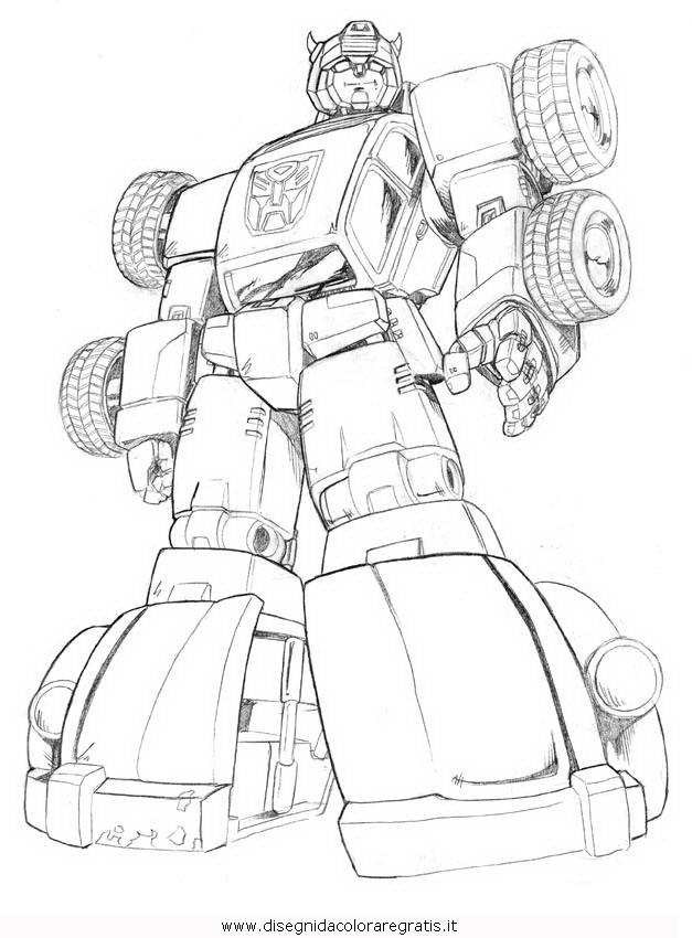 Disegno transformers bumblebee personaggio cartone