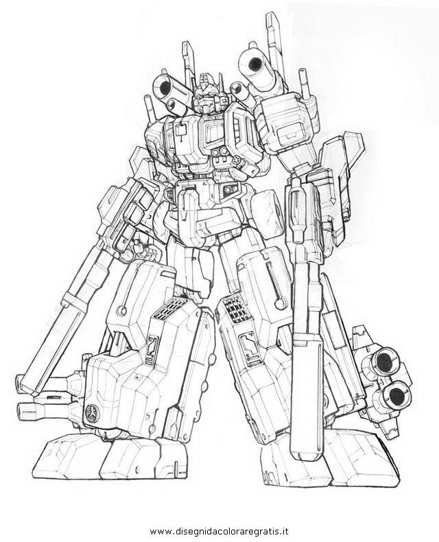 Disegno transformers optimus prime personaggio cartone