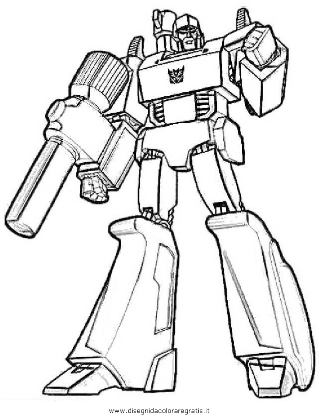 transformers coloring pages megatron - disegno transformers megatron 3 personaggio cartone