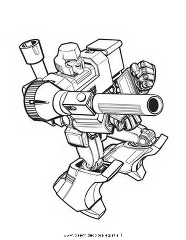 Disegno Transformers Megatron 5 Personaggio Cartone Animato Da