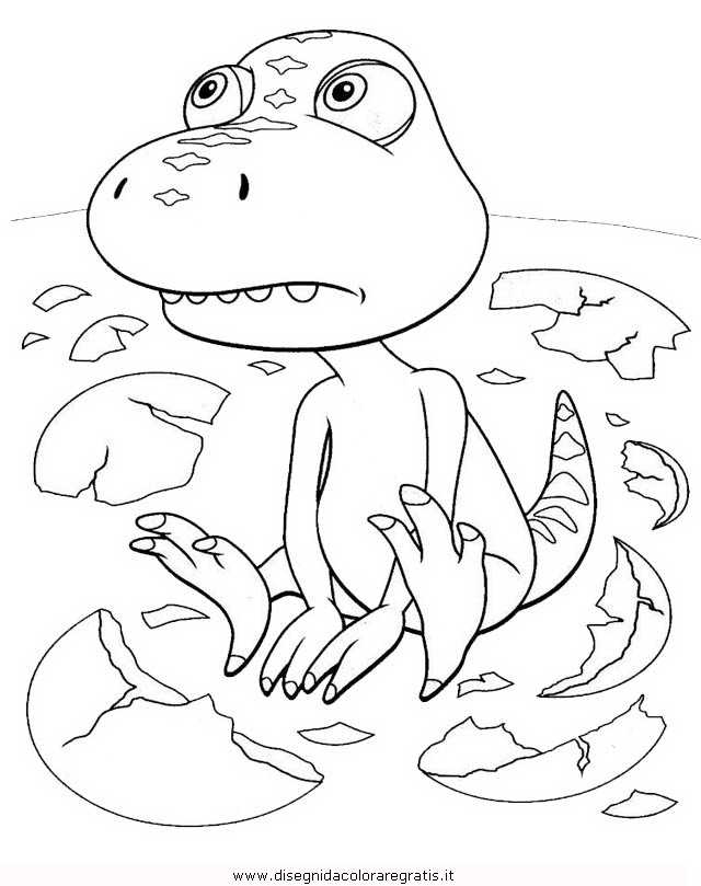 Disegno treno dinosauri personaggio cartone animato da