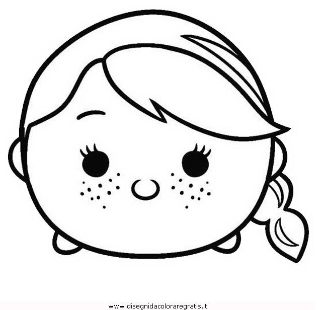 Disegno tsum anna personaggio cartone animato da