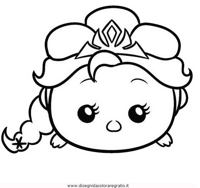 Disegno tsum elsa personaggio cartone animato da