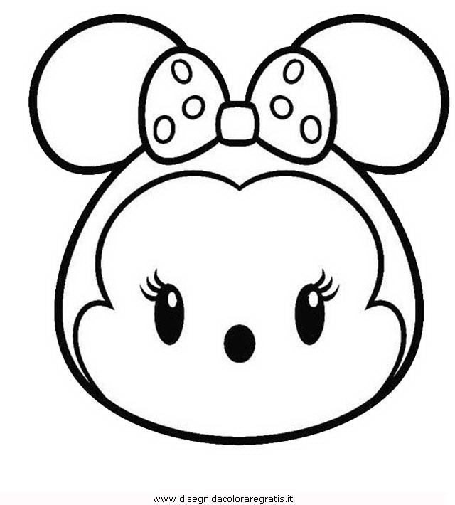 Disegno tsum tsum minnie personaggio cartone animato da for Disegni di minnie da colorare