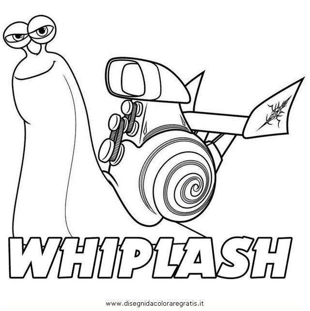Disegno turbo whiplash personaggio cartone animato da