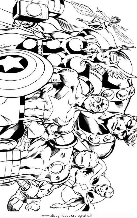 Disegno Ultron Avengers Personaggio Cartone Animato Da Colorare