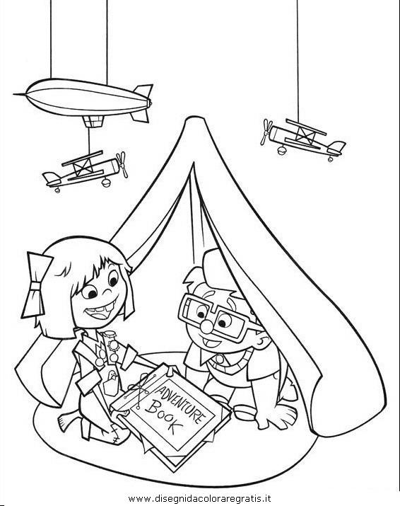 Disegno up personaggio cartone animato da colorare