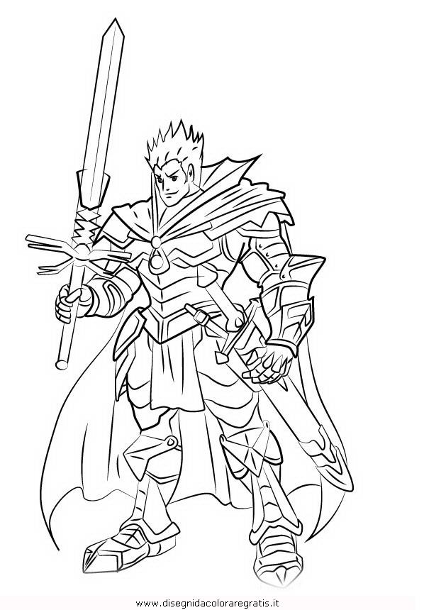 Disegno vanguard personaggio cartone animato da colorare