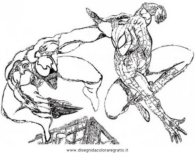 Disegno Venom Personaggio Cartone Animato Da Colorare