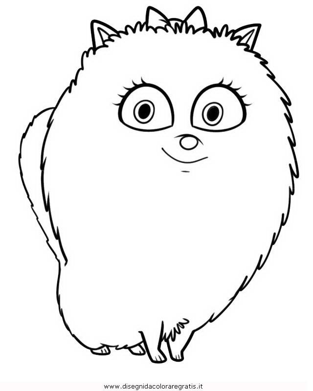 Disegno pets vita segreta animali 03 personaggio cartone - Cartone animato animali da colorare pagine ...