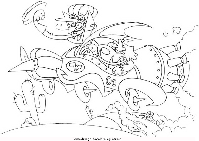 wacky races coloring pages - photo #18