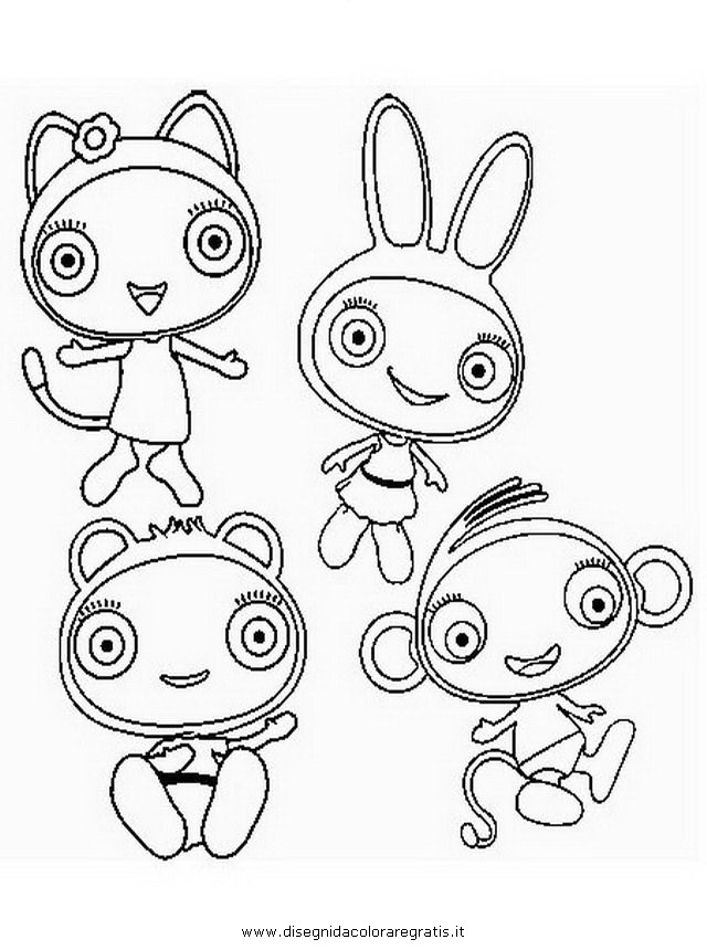 Disegno waybuloo personaggio cartone animato da colorare