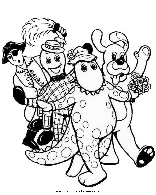 free wiggles coloring pages - photo#27