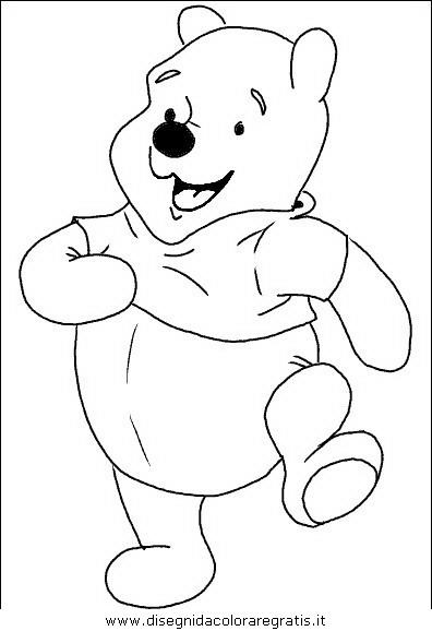 Disegno winnie personaggio cartone animato da colorare