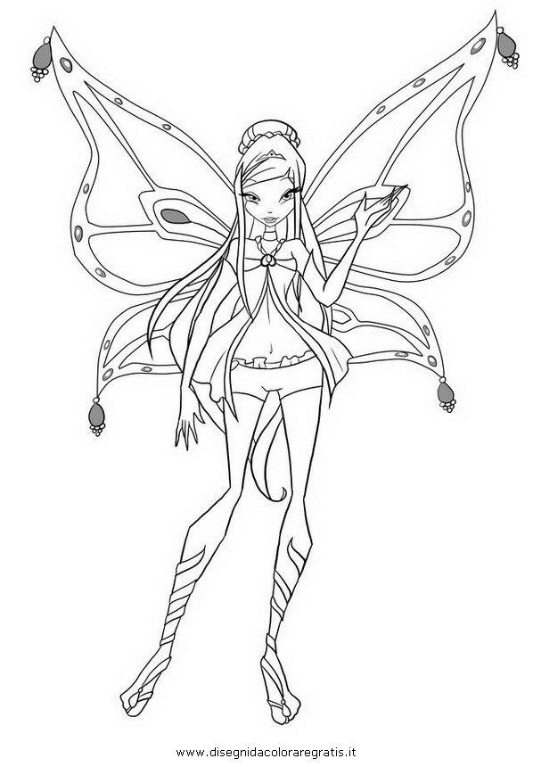 winx club enchantix musa colouring pages