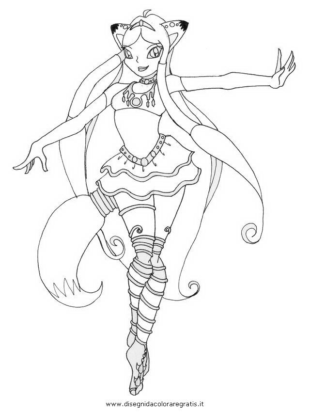 Disegno enchantix personaggio cartone animato da colorare