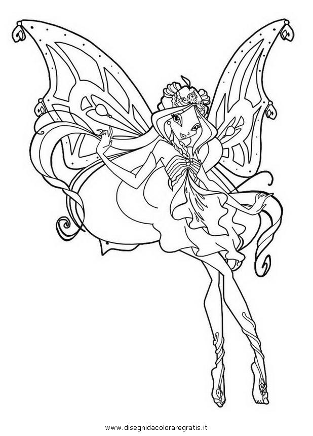 Disegno Flora Enchantix Personaggio Cartone Animato Da Colorare