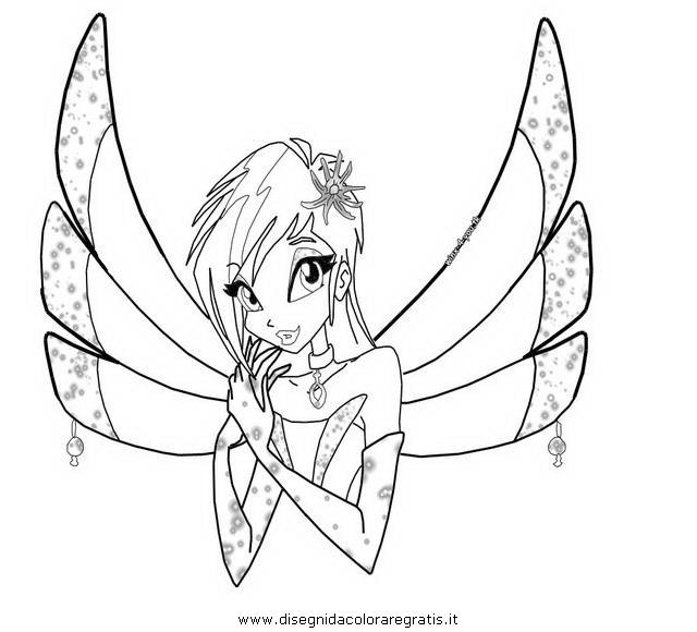 Disegno tecna enchantix personaggio cartone animato da