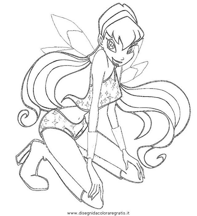 Disegno winx personaggio cartone animato da colorare