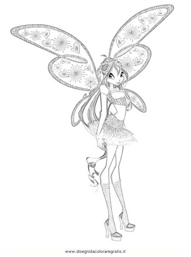 Winx Club Flora Enchantix Coloring Pages Free Printable