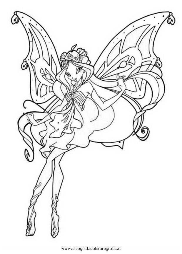 Disegno Winx Bloom Quarta Serie2 Personaggio Cartone Animato Da