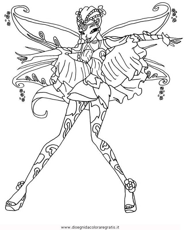 Disegno winx bloomix personaggio cartone animato da