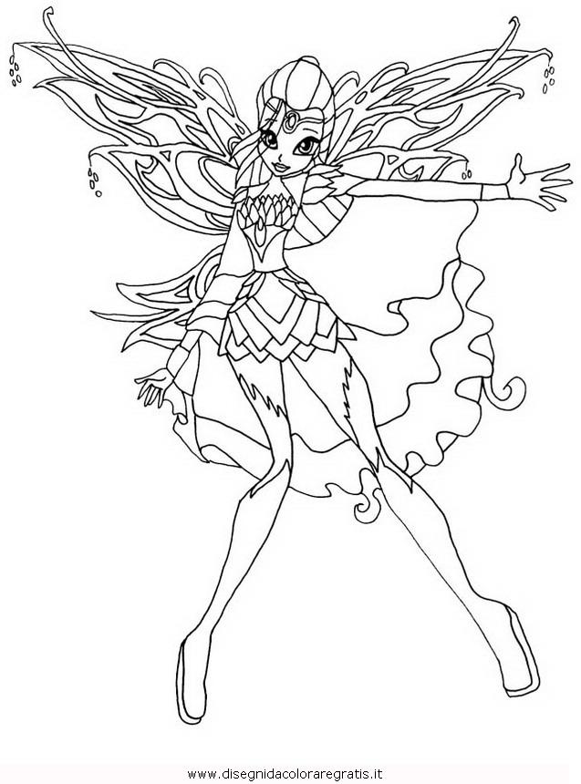 Disegno Winx Bloomix Bloom Personaggio Cartone Animato Da Colorare