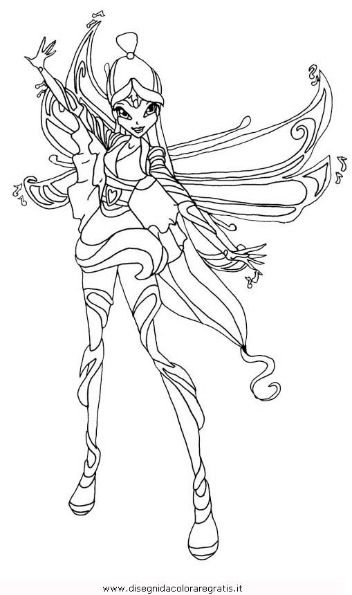 Disegno winx bloomix musa personaggio cartone animato da