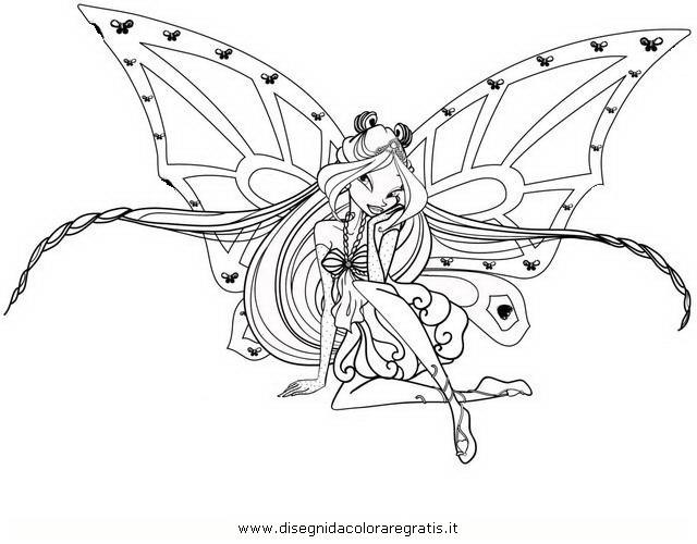 Disegno Winx Flora Quarta Serie2 Personaggio Cartone