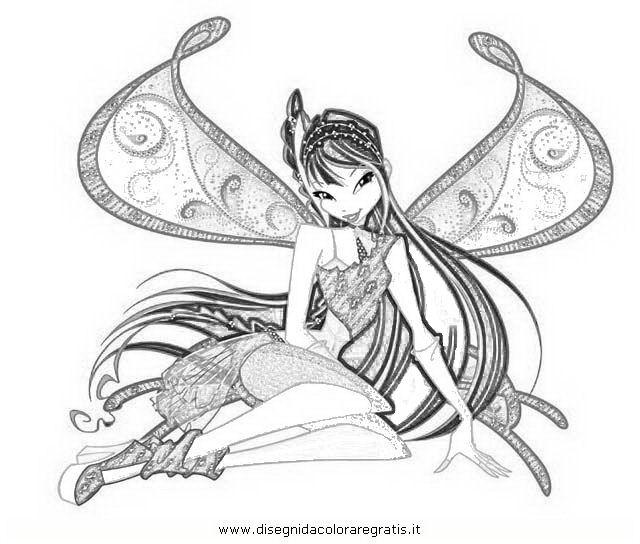 Disegno Winxmusaquarta Serie Personaggio Cartone Animato Da Colorare