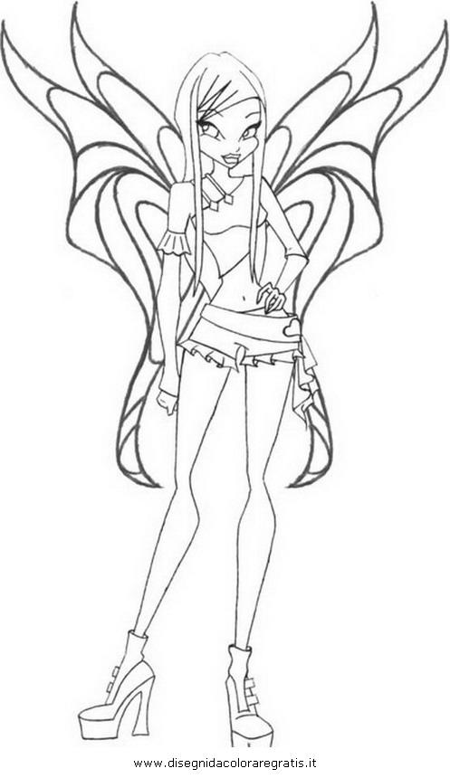 Disegno winx roxy personaggio cartone animato da colorare
