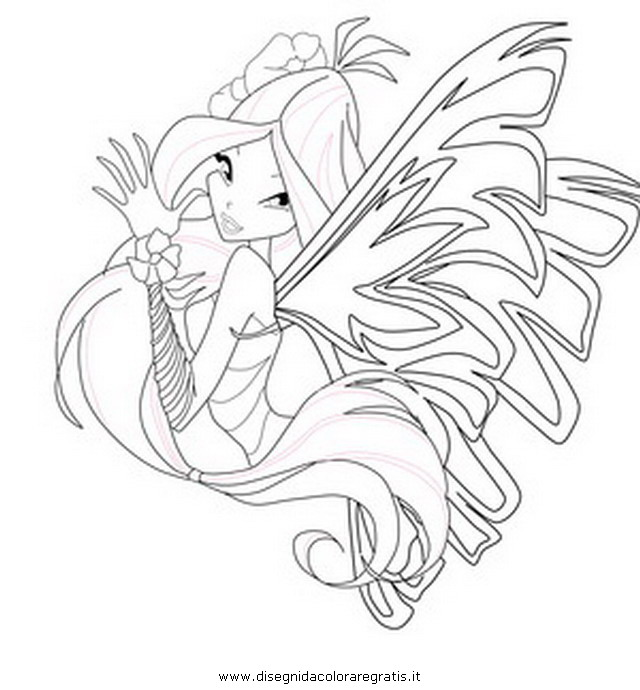 Disegno Winx Sirenix 03 Personaggio Cartone Animato Da Colorare