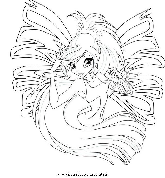 Disegno Winx Sirenix 04 Personaggio Cartone Animato Da Colorare