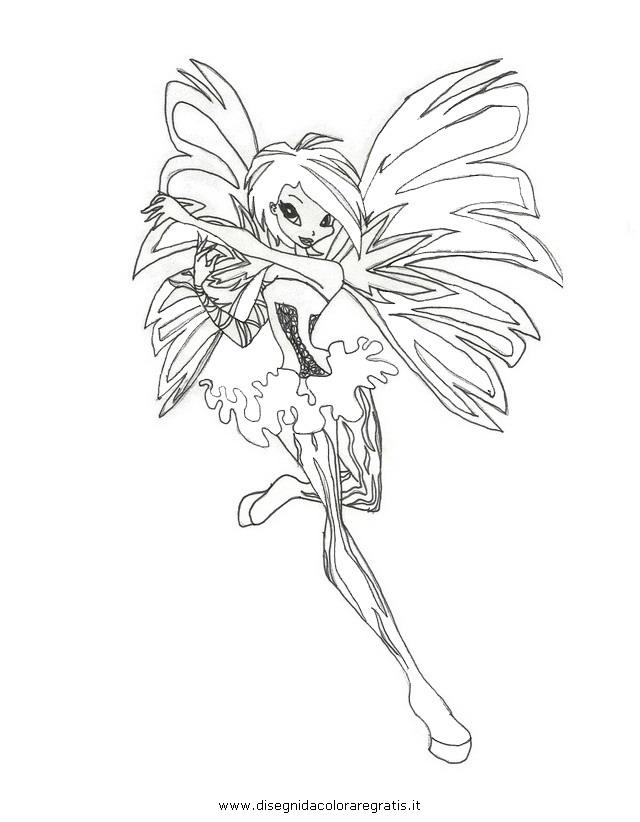 Disegno Winx Sirenix 05 Personaggio Cartone Animato Da Colorare