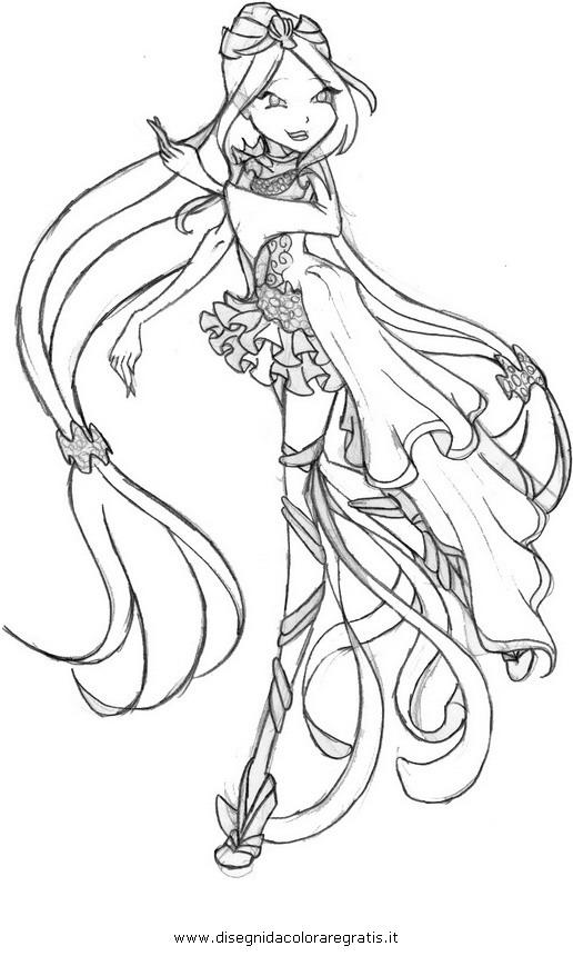 Disegno Winx Sirenix 08 Personaggio Cartone Animato Da Colorare