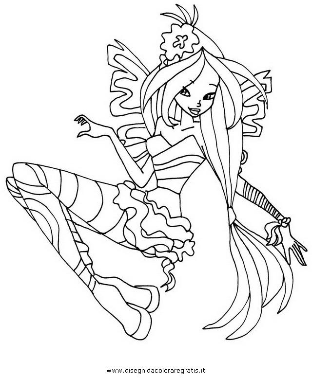 Disegno winx sirenix personaggio cartone animato da