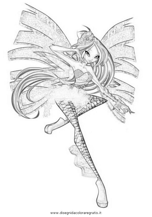 Disegno Winx Sirenix 11 Personaggio Cartone Animato Da Colorare