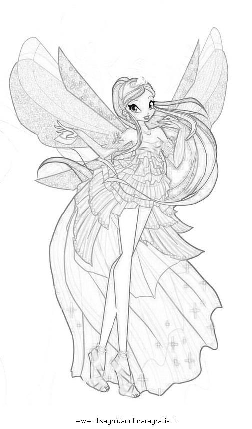 Disegno Winx Sirenix 19 Personaggio Cartone Animato Da Colorare