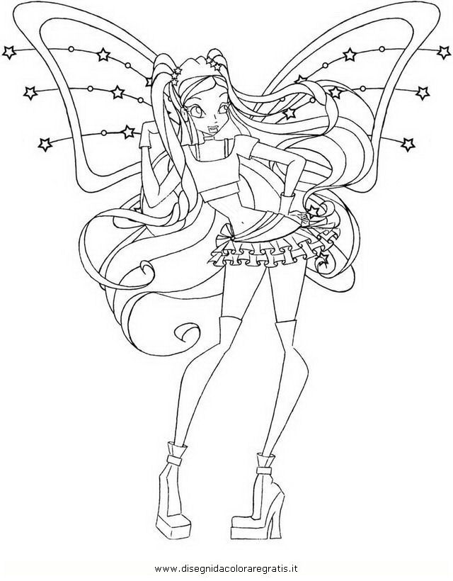 Disegno Winxstellaquarta Serie2 Personaggio Cartone Animato Da